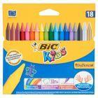 Bic Kids Plastidecor Kredki świecowe 18 kolorów