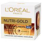 L'Oréal Paris Nutri Gold Nawilżająca terapia odżywcza na noc 50 ml