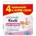 Cleanic Kindii Baby Sensitive Chusteczki do skóry szczególnie wrażliwej i atopowej 240 sztuk