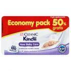 Cleanic Kindii New Baby Care Chusteczki do delikatnej skóry noworodków i niemowląt 120 sztuk