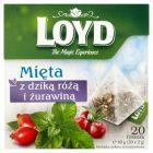 Loyd Herbatka ziołowa aromatyzowana mięta z dziką różą i żurawiną 40 g (20 torebek)