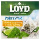 Loyd Herbatka ziołowa aromatyzowana pokrzywa z trawą cytrynową o smaku cytryny 38 g (20 torebek)