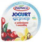 Piątnica Jogurt typu greckiego z wiśniami i wanilią 150 g