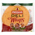 Mission Deli Wraps Tortilla pszenna z suszonymi pomidorami i bazylią 370 g (6 sztuk)