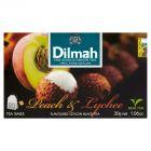 Dilmah Cejlońska czarna herbata z aromatem brzoskwini i owocu liczi 30 g (20 torebek)