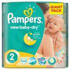 Pampers New Baby-Dry Pieluchy 2 Mini 100 sztuk