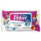 Velvet Junior Nawilżany papier toaletowy 42 sztuki