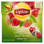 Lipton o smaku Malina i granat Herbata zielona aromatyzowana 28 g (20 torebek)