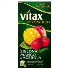 Vitax Inspirations Zielona Mango & Acerola Herbata zielona owocowa 30 g (20 torebek)