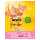 Friskies Junior Karma dla kotów z kurczakiem warzywami i mlekiem 300 g