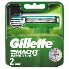 Gillette Mach3 Sensitive Ostrza wymienne do maszynki do golenia, 2 sztuki