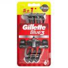 Gillette Blue3 Football Jednorazowa maszynka do golenia dla mężczyzn, 5+1 sztuk