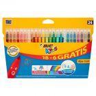 BiC Kids Kolorowe flamastry zmywalne 24 kolory
