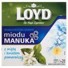 Loyd Herbata zielona aromatyzowana z miętą i kwiatem pomarańczy 34 g (20 torebek)