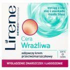 Lirene Cera Wrażliwa Odżywczy krem przeciwzmarszczkowy na dzień 50 ml