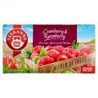 Teekanne World of Fruits Cranberry & Raspberry Mieszanka herbatek owocowych 45 g (20 torebek)