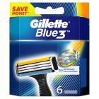 Gillette Blue3 Ostrza Wymienne Do Maszynki Do Golenia Dla Mężczyzn, 6 sztuk