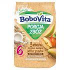 BoboVita Porcja Zbóż Kaszka mleczna 3 zboża zbożowo-owsiana jabłko-gruszka po 6 miesiącu 210 g