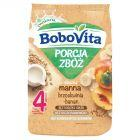 BoboVita Porcja Zbóż Kaszka mleczna manna brzoskwinia banan po 4 miesiącu 210 g