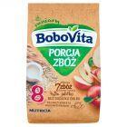 BoboVita Porcja Zbóż Kaszka mleczna 7 zbóż zbożowo-owsiana jabłko po 8 miesiącu 210 g