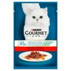 Gourmet Perle Mini fileciki w sosie z warzywami z wołowiną i marchewką Karma dla kotów 85 g