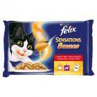 Felix Sensations Sauce Surprise Pełnoporcjowa karma dla dorosłych kotów 400 g (4 saszetki)