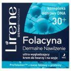 Lirene Folacyna 30+ Dermalne Nawilżenie Ultra wygładzający krem do twarzy i na szyję na noc 50 ml