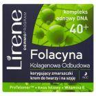 Lirene Folacyna 40+ Kolagenowa Odbudowa Korygujący zmarszczki krem do twarzy i na szyję 50 ml