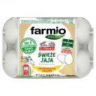 Farmio Jaja świeże od kur karmionych paszą z soją bez GMO M 6 sztuk