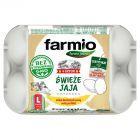Farmio Jaja świeże od kur karmionych paszą z soją bez GMO L 6 sztuk