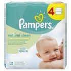 Pampers Natural Clean chusteczki dla niemowląt 4 x 64 sztuki