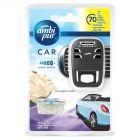 Ambi Pur Car Moonlight Vanilla, Samochodowy odświeżacz powietrza, zestaw startowy, 7ml