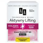AA Technologia Wieku 50+ Aktywny Lifting Krem Multilift 6D na noc 50 ml