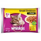 Whiskas Wybór dań drobiowych w sosie Karma pełnoporcjowa 1+ lat 400 g (4 saszetki)