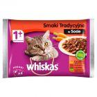 Whiskas 1+ lat Karma pełnoporcjowa smaki tradycyjne w sosie 400 g (4 x 100 g)
