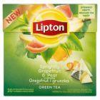 Lipton o smaku Grejpfrut i gruszka Herbata zielona aromatyzowana 30 g (20 torebek)