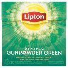 Lipton Dynamic Gunpowder Green Herbata zielona aromatyzowana 36 g (20 torebek)