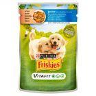 Friskies Vitafit Junior z kurczakiem i marchewką w sosie Pełnoporcjowa karma dla szczeniąt 100 g