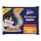 Felix Sensations Crunchy Wybór dań mięsnych + chrupiąca sucha posypka 312 g
