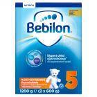 Bebilon Junior 5 z Pronutra+ Mleko modyfikowane dla przedszkolaka 1200 g (2 sztuki)