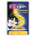 Felix Sensations z kaczką w galaretce ze szpinakiem Pełnoporcjowa karma dla dorosłych kotów 100 g