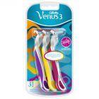 Gillette Venus 3 Maszynki jednorazowe dla kobiet, 3sztuki
