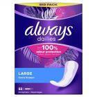 Always Dailies Extra Protect Large Wkładki higieniczne x52