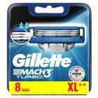 Gillette Mach3 Turbo Ostrza wymienne do maszynki, 8 sztuki