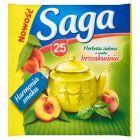 Saga Herbata zielona o smaku brzoskwinia 32,5 g (25 torebek)