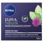 NIVEA Pure & Natural Przeciwzmarszczkowy krem na noc 50 ml