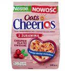 Nestlé Cheerios Oats Chrupkie płatki owsiane z żurawiną 350 g