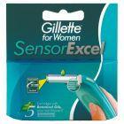 Gillette Sensor Excel dla Kobiet Wymienne Ostrza 5 wkładów