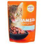 IAMS Delights z dzikim tuńczykiem i śledziem w galaretce Karma dla dorosłych kotów 85 g