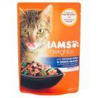 IAMS Delights z rybami oceanicznymi i zieloną fasolką w sosie Karma dla dorosłych kotów 85 g